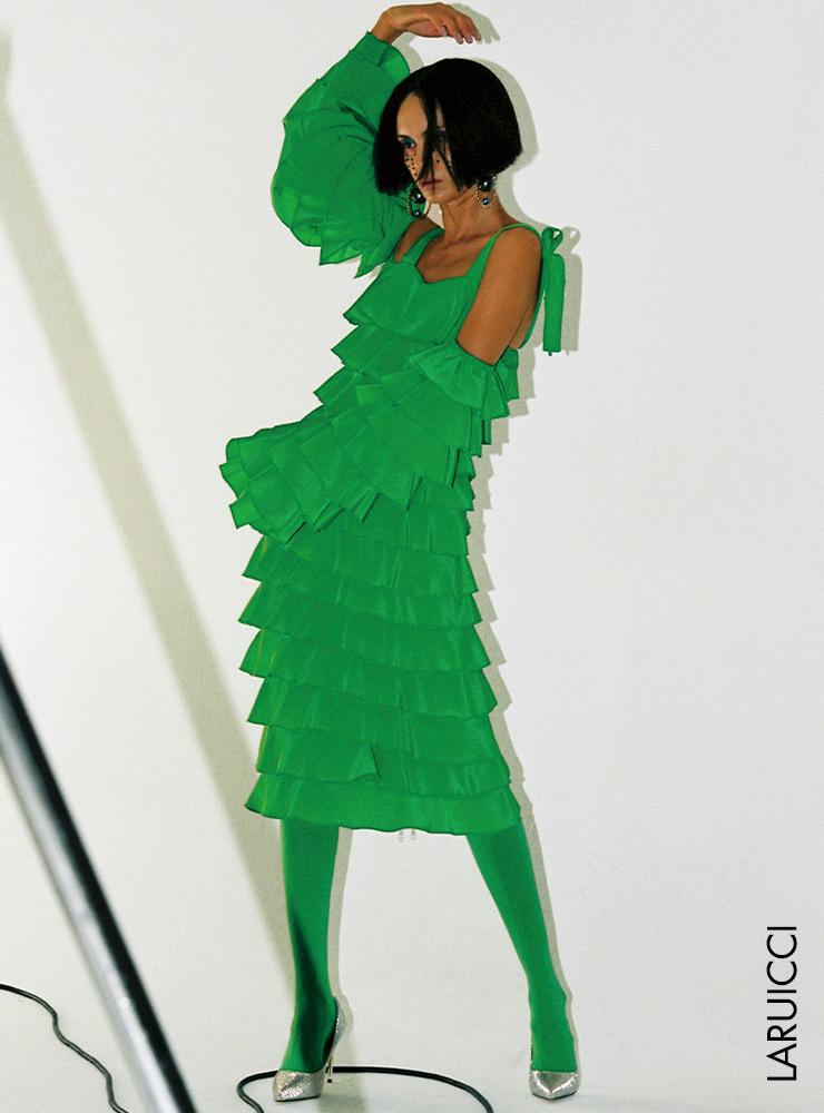从头到脚,绿色赞美!绿色 新鲜而有力的自然色彩